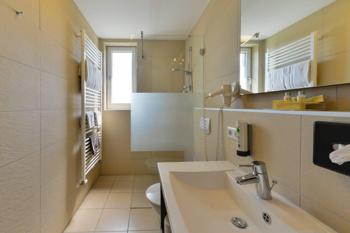Schades Wohlfühlhotel Einzelzimmer Bad