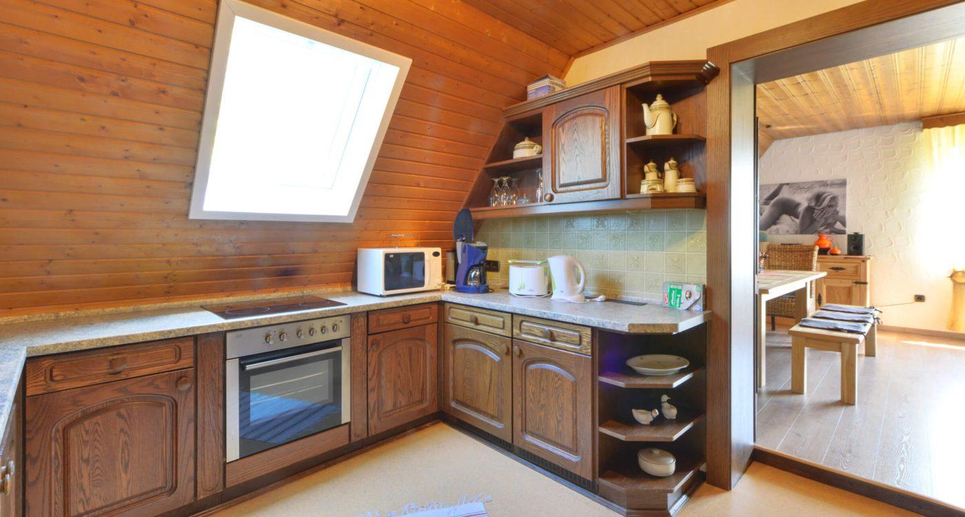 Schades Wohlfühlhotel Ferienwohnung Küche Dachgeschoss